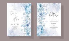 Wedding Invitation Card Template, Wedding Invitation Templates, Beautiful Wedding Invitations, Watercolor Wedding Invitations, Flower Decorations, Wedding Cards, Vectors, Adobe, Pattern Flower
