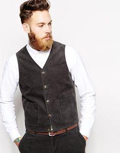 ASOS Slim Fit Waistcoat and pants in corduroy
