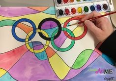 Olympic Rings Abstract Art Project