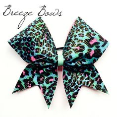 Hey, I found this really awesome Etsy listing at https://www.etsy.com/listing/184068437/cheer-bow-cheetah