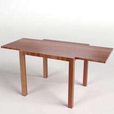 Extended Table 3D Model .max .c4d .obj .3ds .fbx .lwo .stl @3DExport.com by FrancescoMilanese