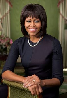 Born on this day January 17, 1964 First Lady Michelle Obama turns 50! Official White House portrait taken in the green room, February 2013.