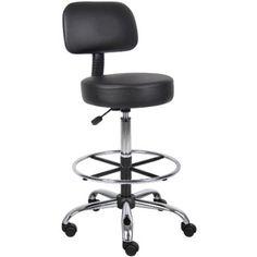 Amazon.com - Boss B16245-BK Caressoft Medical/Drafting Stool with Back Cushion