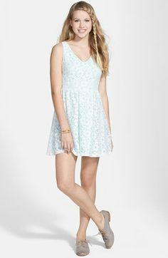 Lush Floral Lace Skater Dress (Juniors) available at #Nordstrom