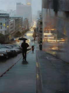 "Jonathan J. Ahn (1977- ), Descent, 18""x24"""