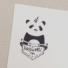 yup . . . . . #handletter #lettering #typography #welovetype #goodtype #thedailytype #typeyeah #calligafriends #handletteringpractice #typelove #typegang #goodtype  #calligraphy #art #handdraw #calligrabasics #nanquim #nanquimdraw #panda #pandalovers #unicorn #pandicorn