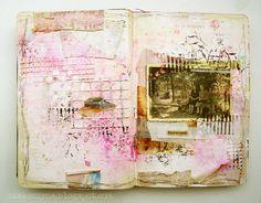 Dziewczynki - art-journal page - by Czekoczyna