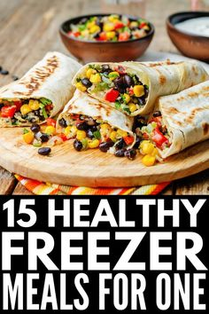 If you're looking for easy recipes you can cook in bulk, freeze & reheat on busy nights, this collection of healthy freezer meal recipes will inspire you! Healthy Meals To Freeze, Freezable Meal Prep, Vegetarian Freezer Meals, Freezer Friendly Meals, Easy To Cook Meals, Easy Freezer Meals, Healthy Meal Prep, Vegetarian Recipes, Vegetarian Options