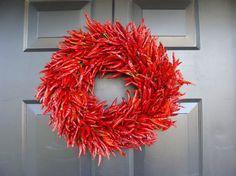 Organic Red Chili Pepper Wreath | ElegantWreath