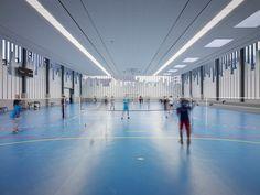 Gymnasium and Town Hall Esplanade,© Julien Lanoo