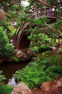 "San Francisco - Golden Gate Park ""Japanese Tea Garden - Half Moon Bridge""   ..rh"