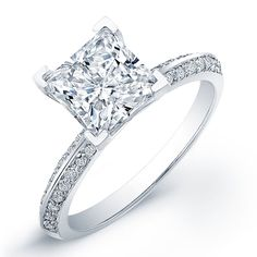 1 Carat princess cut diamond engagement ring SI F (GRA)  Can I have this please!?!??!