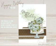 Happy Birthday To You Sale-A-Bration stamp set is perfect for Beginner, Casual and Avid crafters. Three projects using different colouring techniques. Birthday Cake Card, Happy Birthday Cakes, Diy Birthday, Happy Birthday Ecard, Birthday Sentiments, Stamping Up Cards, Scrapbook Supplies, Cardmaking, Stampin Up