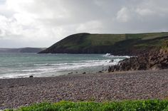 Beach at Manorbier, a short walk from the Castle and mentioned in Gerald of Wales' memoirs
