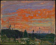 Tom Thomson. Spring Sunset, Algonquin Park | AGO Art Gallery of Ontario