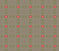 peony-coral-ribbons fabric by wren_leyland on Spoonflower - custom fabric