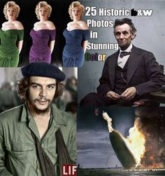 Historic black and white photos in color; I've never seen Lincoln like this!