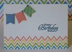 This darling birthday card uses the Banner Blast stamp set and the Banner punch, both free during Stampin' Up!'s Sell-a-Bration promotion.  For more info, contact me at http://lindamadison.stampinup.net.