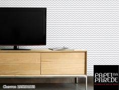 O papel de parede chevron é uma forte tendência da decoração, o famoso zig-zag é uma maneira de tornar a decoração mais diferenciada e estilosa, além de tudo essa estampa cria a sensação de amplitude. O ambiente fica super descolado.!!!