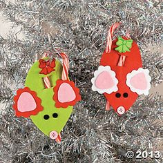 Mouse Candy Cane Craft Kit - Oriental Trading