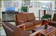 Aqua Bamboo Waikiki One Bedroom Suite Terrace - BBQ, anyone? #waikiki #hawaii #aquahotels #aquabamboowaikiki