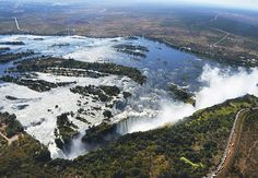 There's nothing quite like Victoria Falls from a helicopter Chutes Victoria, Victoria Falls, Canoe Trip, Seven Wonders, Holiday Destinations, Natural World, Nice View, Wilderness, Waterfall