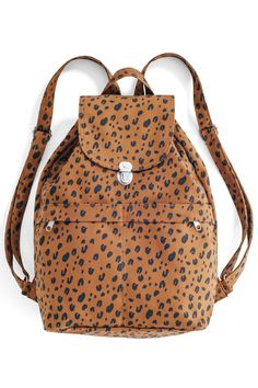 Canvas Backpack  Leopard Drawstring Backpack 10c7d331eeaa1