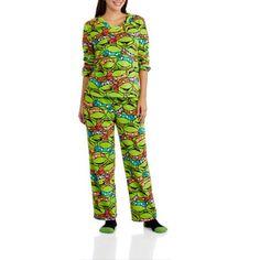 Teenage Mutant Ninja Turtles Women's and Women's Plus 3 Piece PJ Set - Walmart.com