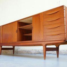 Table basse scandinave teck design danois arrebo années 50 60 vintage mobler mobilier mad men décoration d'intérieur déco designer danish  enfilade buffet johannes andersen