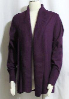 Tommy Hilfiger Blue Plus 2X Open Long Tunic Cardigan Sweater Coat NEW $79