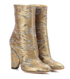 a5770a4663 Dries Van Noten - Metallic jacquard ankle boots - Note the golden metallic  leather lining – a subtly luxe finishing touch. -   www.mytheresa.com