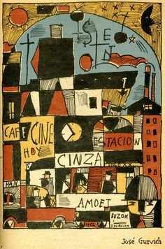 José Gurvich an Uruguayan painter, potter, musician and a key figure in the Constructivism Art movement. via www.330studios.co.uk