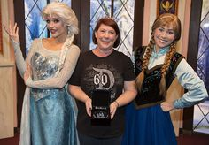Disneyland Diamond Days Winner of the Blue Disney Diamond Meets Anna and Elsa at Disney California Adventure Park