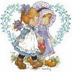Sara Kay, Holly Hobbie, Precious Moments, Vintage Love, Birthday Cards, Little Girls, Hello Kitty, Clip Art, Watercolor