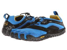 What I use for OCR's: Vibram FiveFingers Spyridon MR (Surprisingly, although I have flat feet-my feet didn't hurt at all on the course. Plus, I didn't slide around on the obstacles that I had to climb) Obstacle Course Races, Vibram Fivefingers, Endurance Training, Flat Feet, Shopping Bag, Flats, Shoe Bag, Sneakers, Blue
