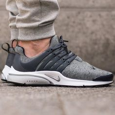 """#hbrecommends: @nike Air Presto """"Tech Fleece"""" pack - Tumbled Grey/Black. Photo: @titoloshop by hypebeast"""