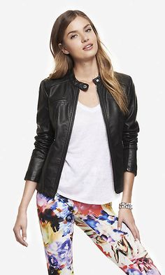 (MINUS THE) LEATHER SEAMED MOTO JACKET | Express