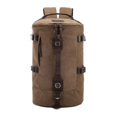 Large capacity man travel bag outdoor mountaineering backpack men bags hiking camping canvas bucket shoulder bag 012 * You can get additional details at the image link. Best Travel Backpack, Duffle Bag Travel, Backpack Bags, Travel Bags, Duffle Bags, Fashion Backpack, Travel Luggage, Leather Backpack, Rugged Style