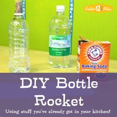 Fun with science, build your own bottle rocket! #science #diy #stem #steam