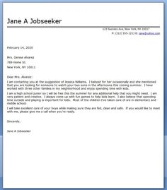 babysitter cover letter sample - What Should A Cover Letter Look Like