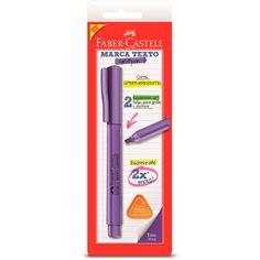 Pincel marca texto roxo SMMTRXZF Faber Castell - Escrita & Corretivos - Kalunga.com