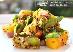 heatheromade: Heirloom Tomato Quinoa Salad.