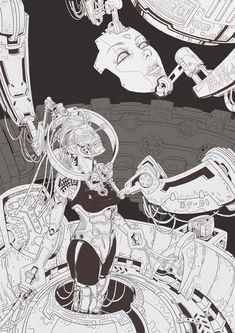 ArtStation - mask, changyu Q Otaku, Amazing Drawings, Amazing Art, Grimes Artwork, Manga Art, Anime Art, Arte Cyberpunk, Cyberpunk 2077, Illustration Example