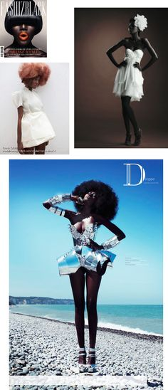 African model out of France, Rama Diouf