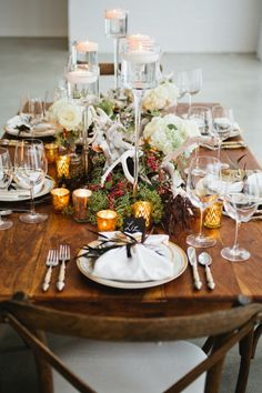 Holiday tablescape: