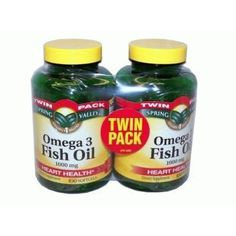 Spring Valley Omega 3 Fish Oil Twin Pack!