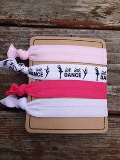 Live Love Dance Hair Tie Pack Anthropologie by allisonmcnally, $4.50
