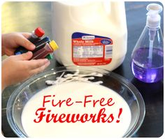 Cool idea for an activity for kids to do inside!  My 3 year old would love this! Indoor Crafts - Fireworks
