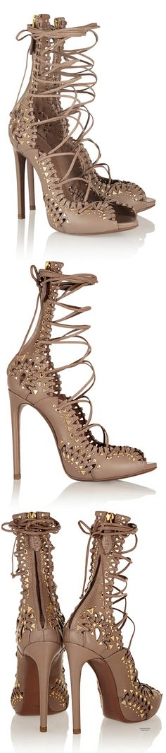 Alaïa Studded lace-up leather sandals http://www.net-a-porter.com/product/411622/Alaia/studded-lace-up-leather-sandals?utm_referrer=fashiolista.com&cm_mmc=LinkshareUS-_-QFGLnEolOWg-_-Custom-_-LinkBuilder&siteID=QFGLnEolOWg-baSyC7Rpq3Ay0NjAsvB6hA