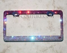 Your Color BLING License Plate Frame with Swarovski by IcyCouture